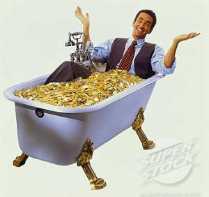 kąpiel w pieniądzach
