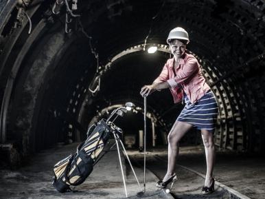 turbogolf w kopalni